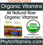 Organic Vitamins, All Natural Raw Organic Vitamins